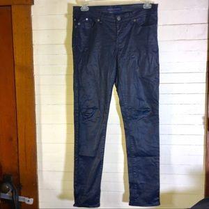 Rock & Republic Berlin Blue Metallic Shimmer Jeans